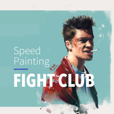 Speed Painting – TYLER (Fight Club) #10