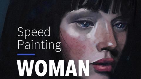 Speed Painting – PORTRAIT DE FEMME #12