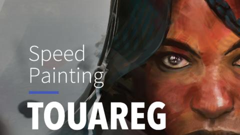 Speed Painting – PORTRAIT TOUAREG #11